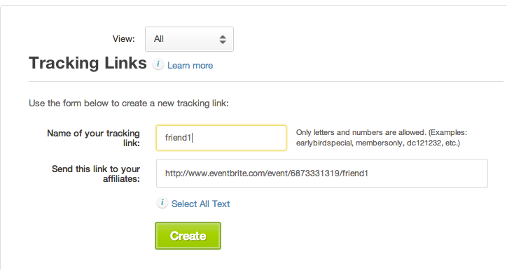 How to create and manage affiliate tracking links