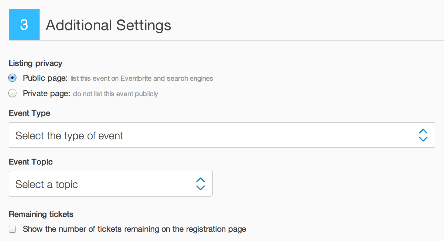Step 3: Additional Settings is located on the bottom of the Edit Page.