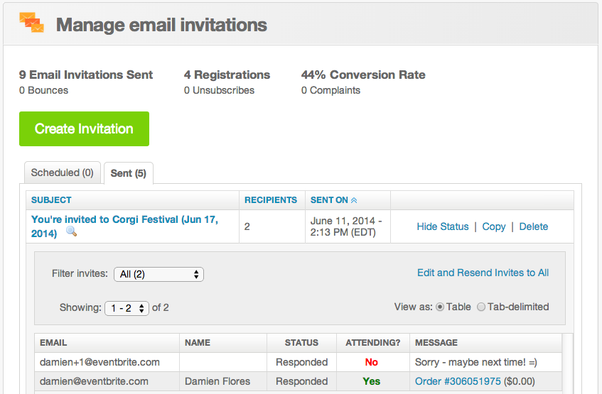 How to use RSVP tracking | Eventbrite Help Center